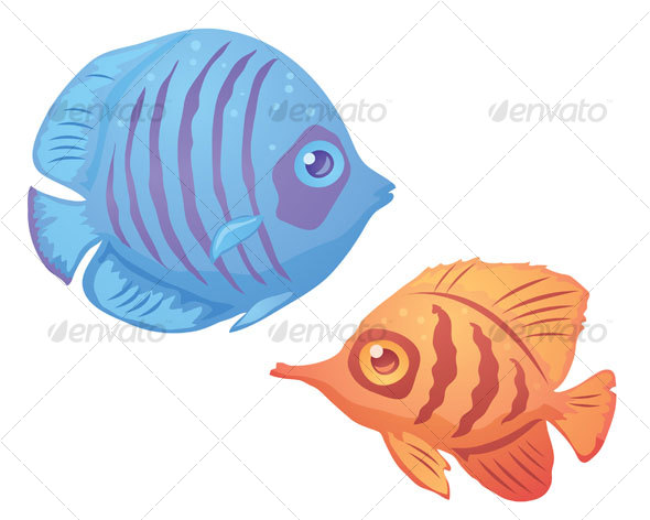 Graphic River Tropical Fish Vectors -  Characters  Animals 65983