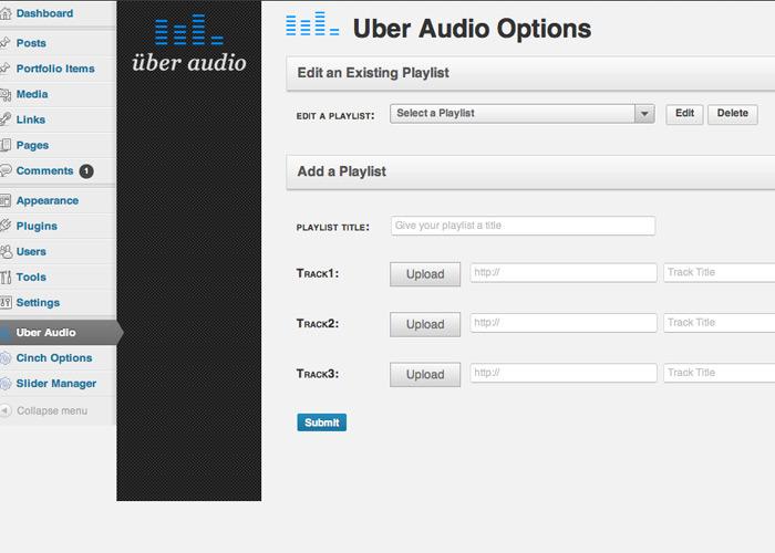 Uber Audio - Wordpress Plugin Widget - Live Demo