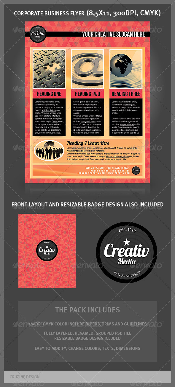 GraphicRiver Corporate Business Flyer Medial Agency 1693539