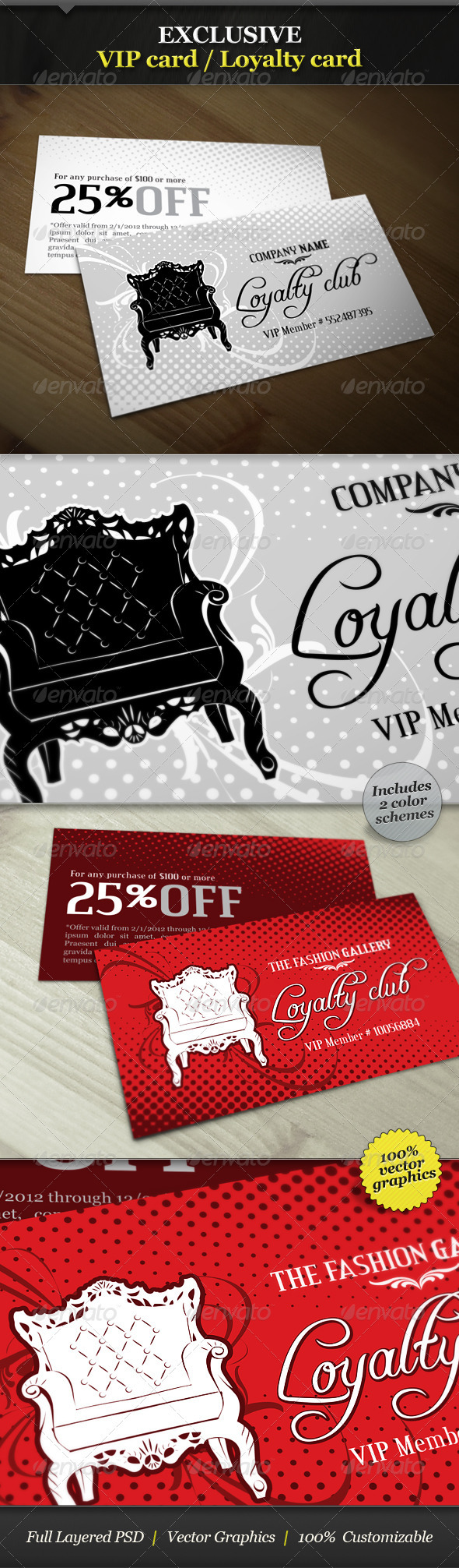 GraphicRiver Exclusive VIP Card Loyalty Card 1693693