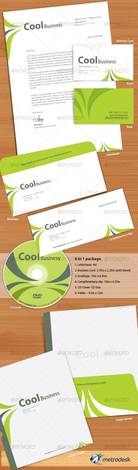 GraphicRiver Cool Corporate Identity 66078