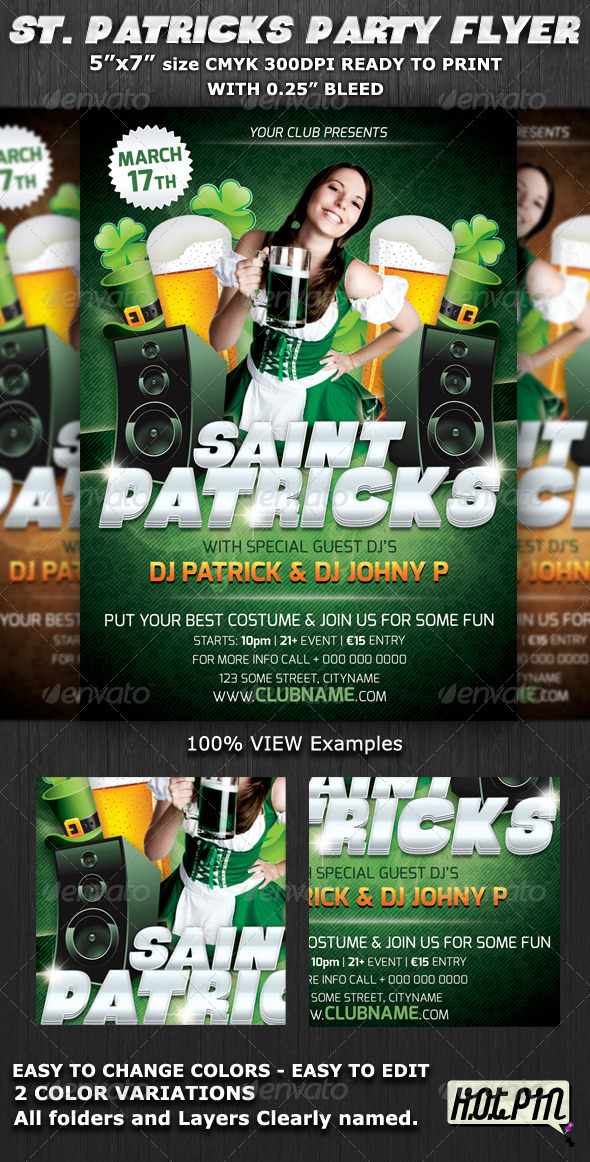 GraphicRiver St.Patrick's Club-Party Flyer Template V5 1693887