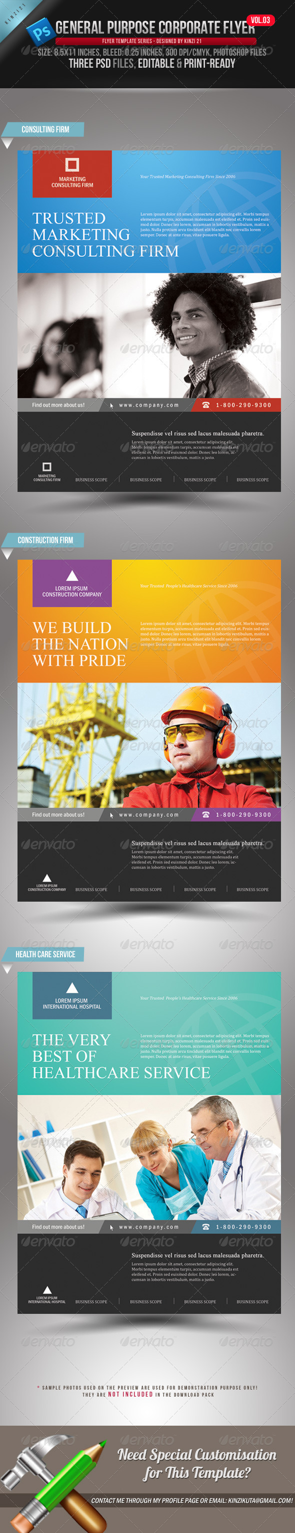 GraphicRiver General Purpose Corporate Flyer Vol 03 1694091