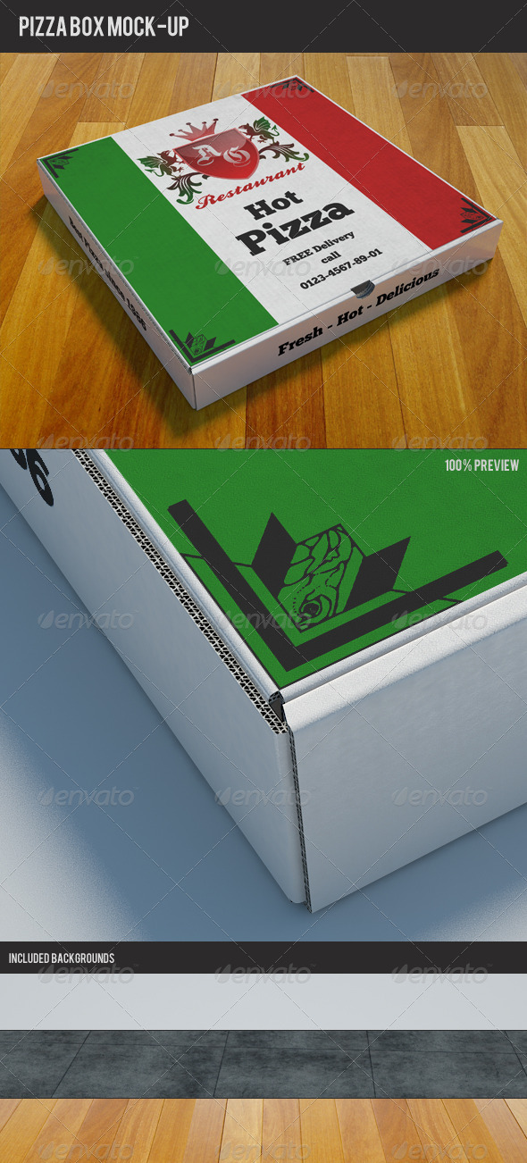 GraphicRiver Pizzabox Mock-up 1694212
