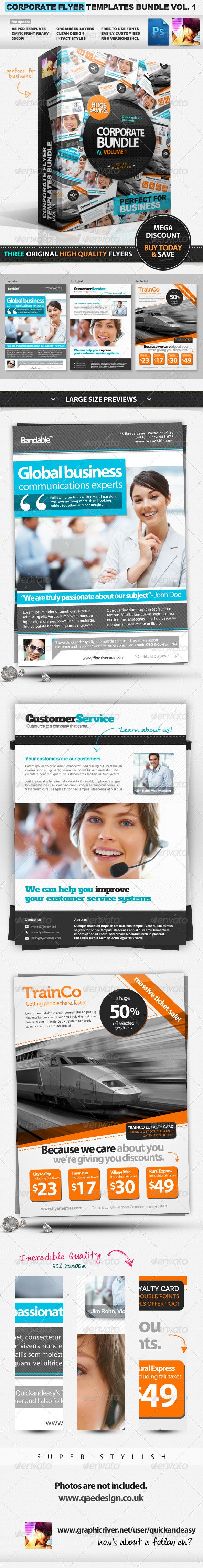 GraphicRiver Corporate Business Flyer Templates Bundle Vol.1 1694399