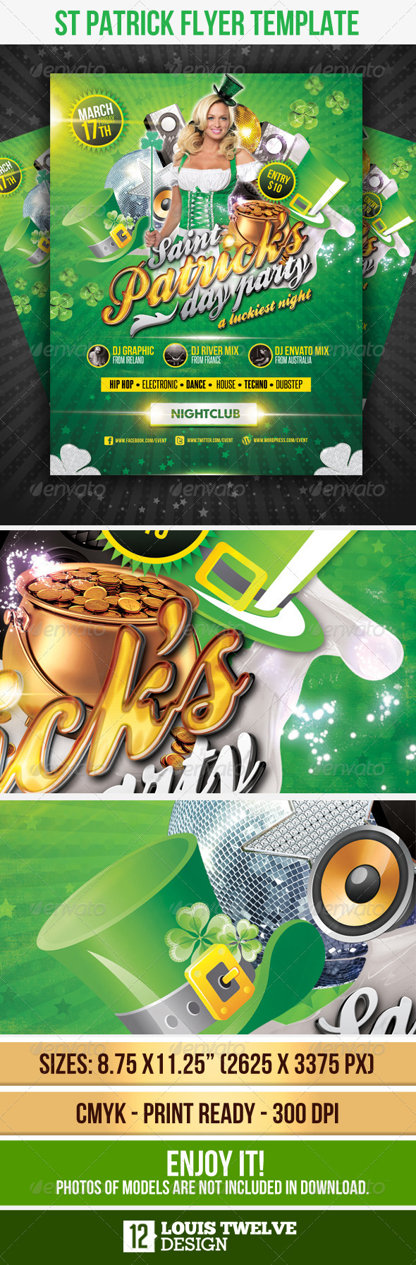 GraphicRiver St Patricks Flyer Template 1685047