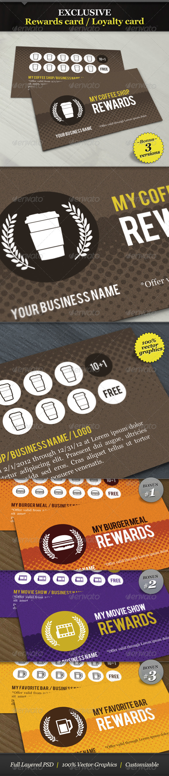 GraphicRiver Coffee Shop Rewards Card Loyalty Card 1678436