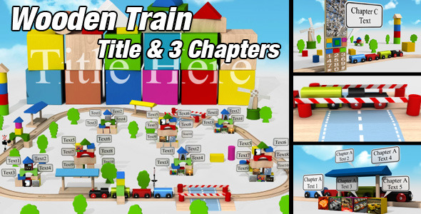 VideoHive Wooden Train 1676797