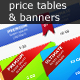 Price Tables with Hosting banners - GraphicRiver Item for Sale