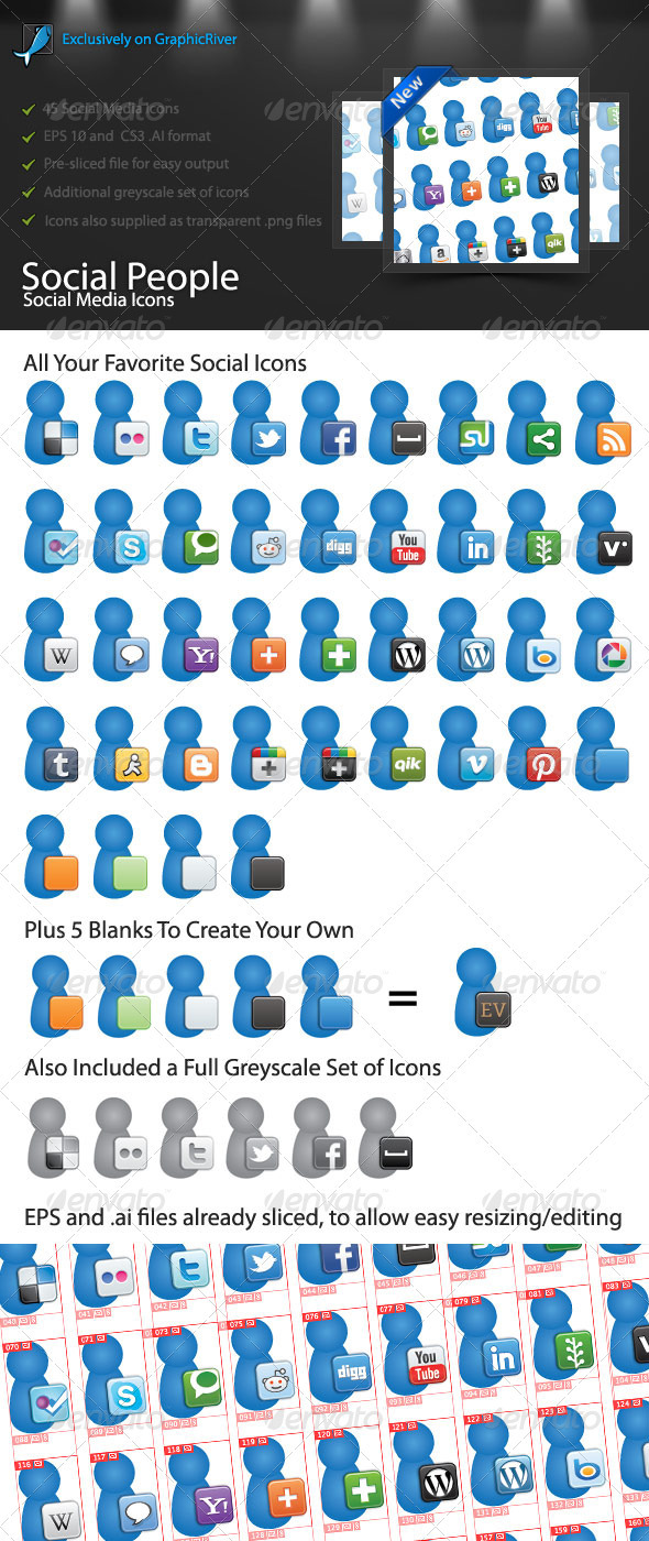 GraphicRiver Social People Social Media Icons 1698741