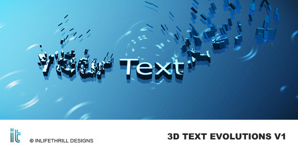 After Effects Project - VideoHive 3D-Text Evolutions 54692