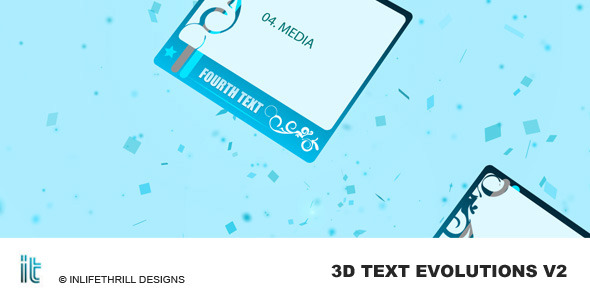 After Effects Project - VideoHive 3D-Text Evolutions V2 56877