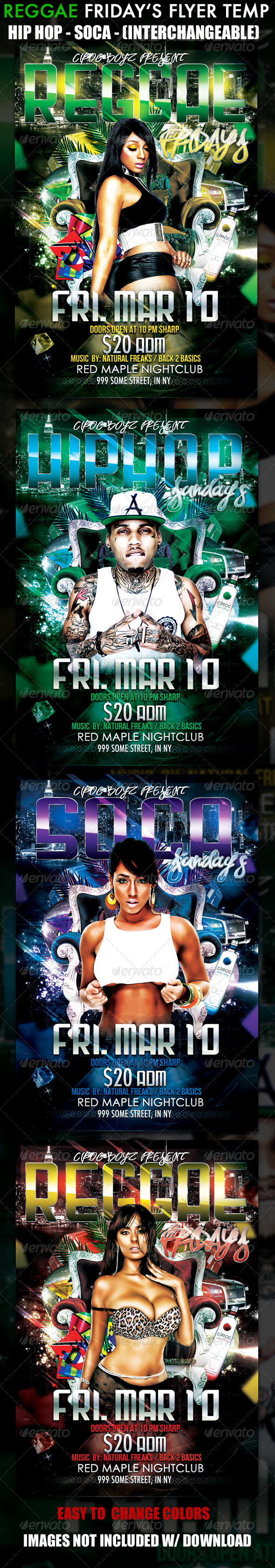 GraphicRiver Reggae Friday's Flyer Template 1686585