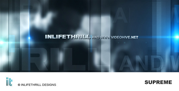 After Effects Project - VideoHive Supreme 110512