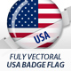 American Flag Badges - GraphicRiver Item for Sale