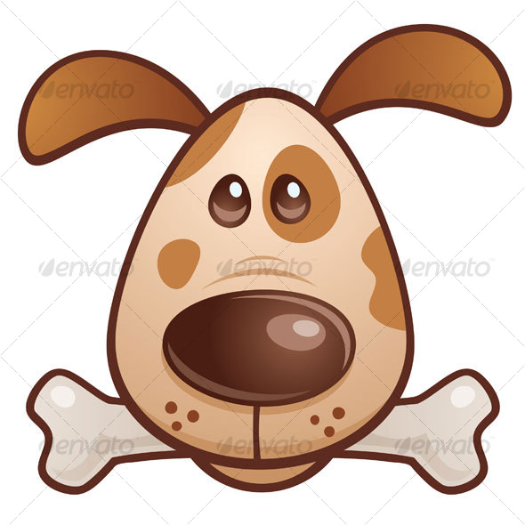 GraphicRiver Brown Puppy With Bone 66555