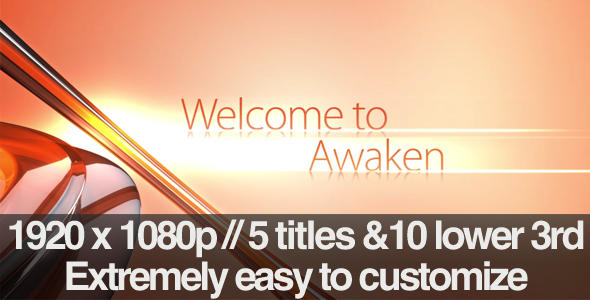 After Effects Project - VideoHive Awaken Section Titles & Lower 3rds Pack 201435