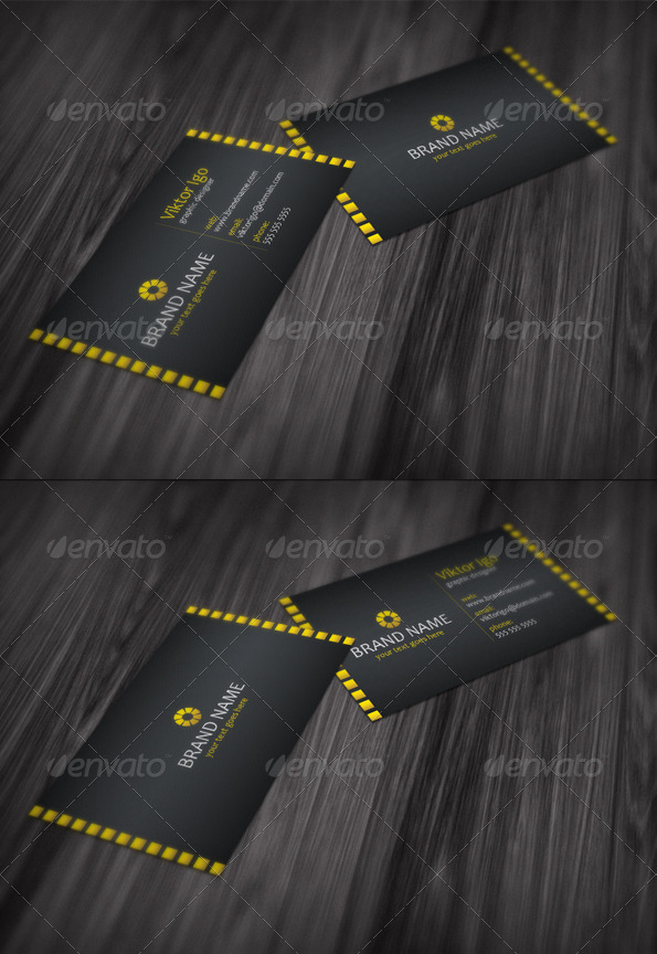 GraphicRiver Modern Black Business Card 1687571