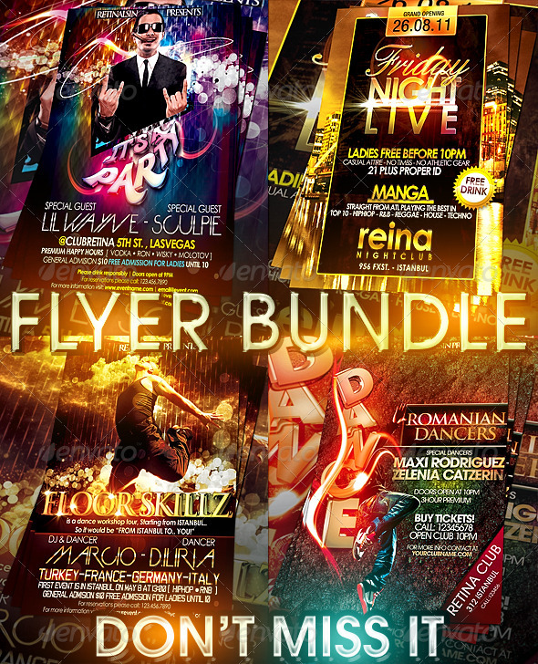 GraphicRiver AMAZING FLYER BUNDLE 4in1 239495