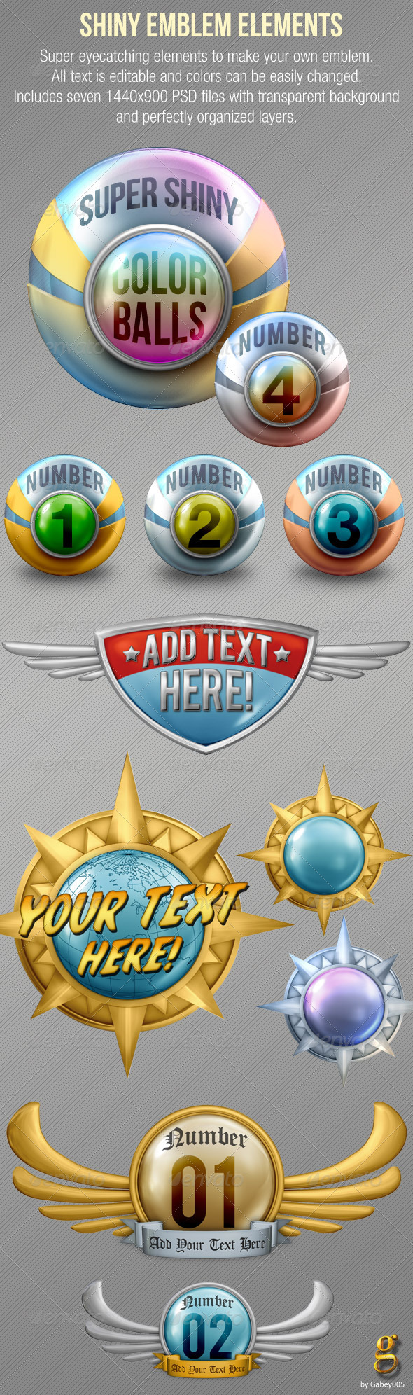 GraphicRiver Shiny Emblem Elements 1693093