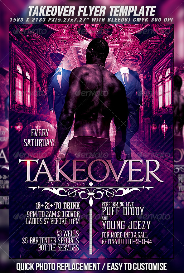 GraphicRiver Takeover Flyer Template 482338