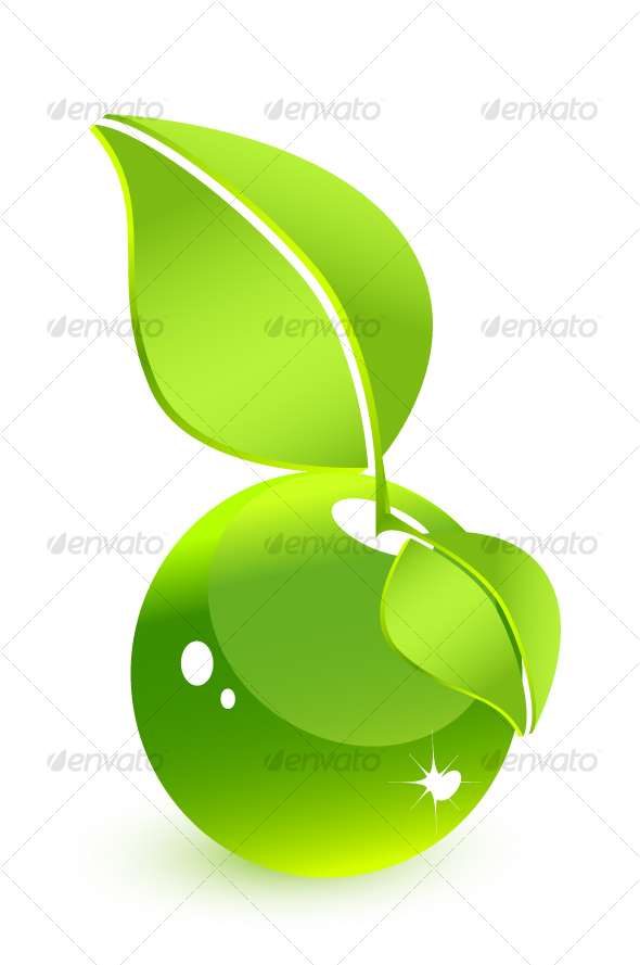 GraphicRiver Green glass water-fruit 66812