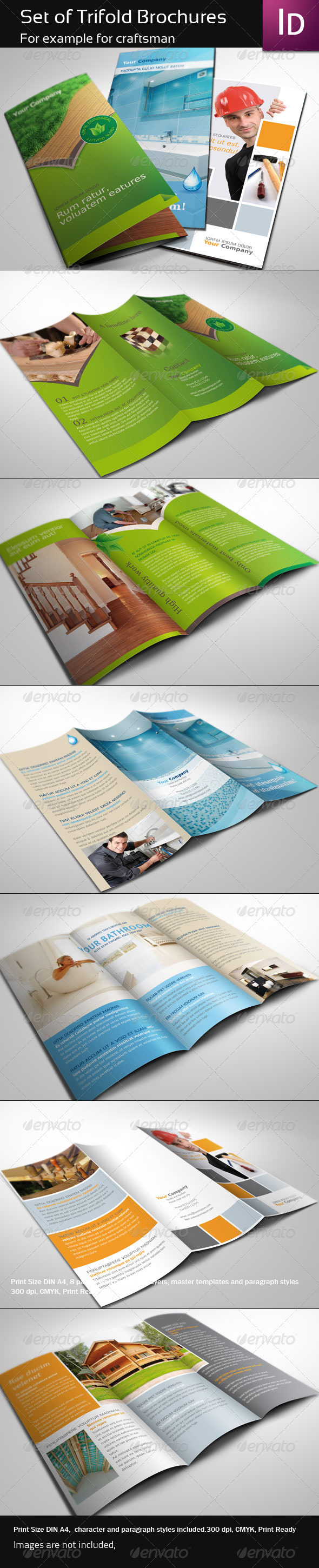 GraphicRiver Set of Trifold Brochure 337187