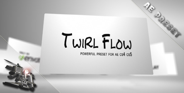 After Effects Project - VideoHive Twirl Flow Preset 1694169