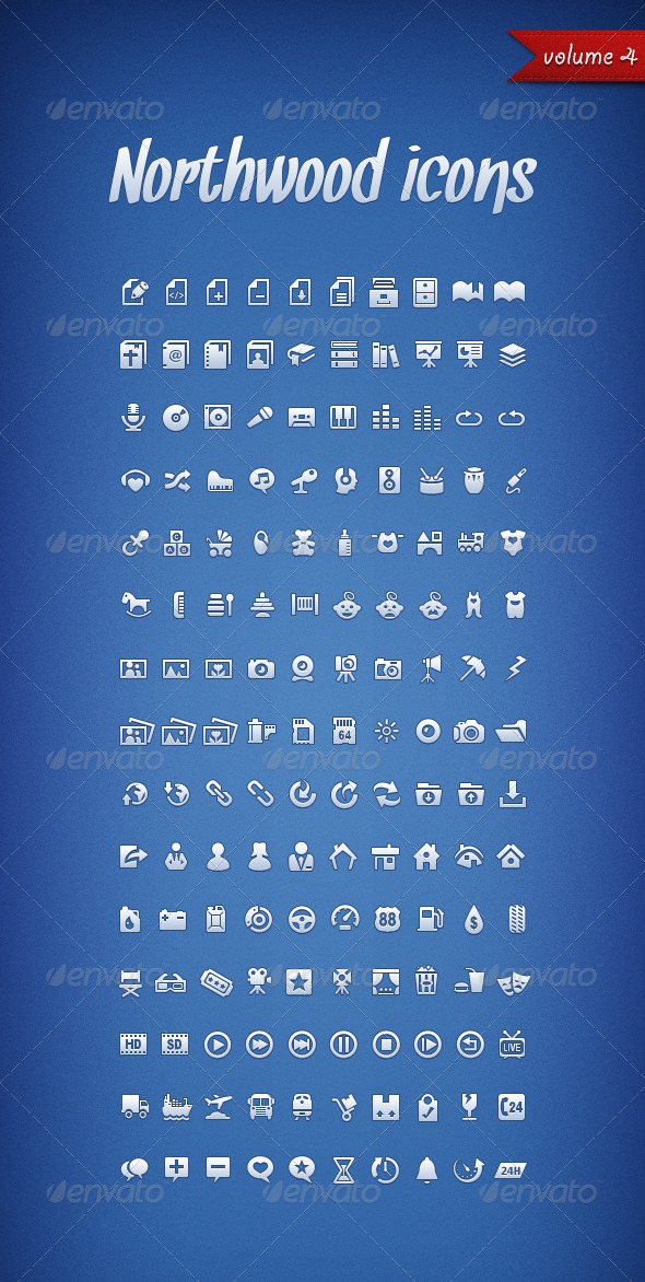 GraphicRiver Northwood Icons Volume 4 1723791