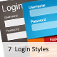 7 Login Styles - GraphicRiver Item for Sale