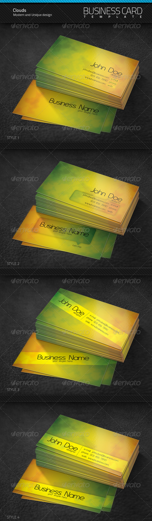 GraphicRiver Cloud Business Cards 106760