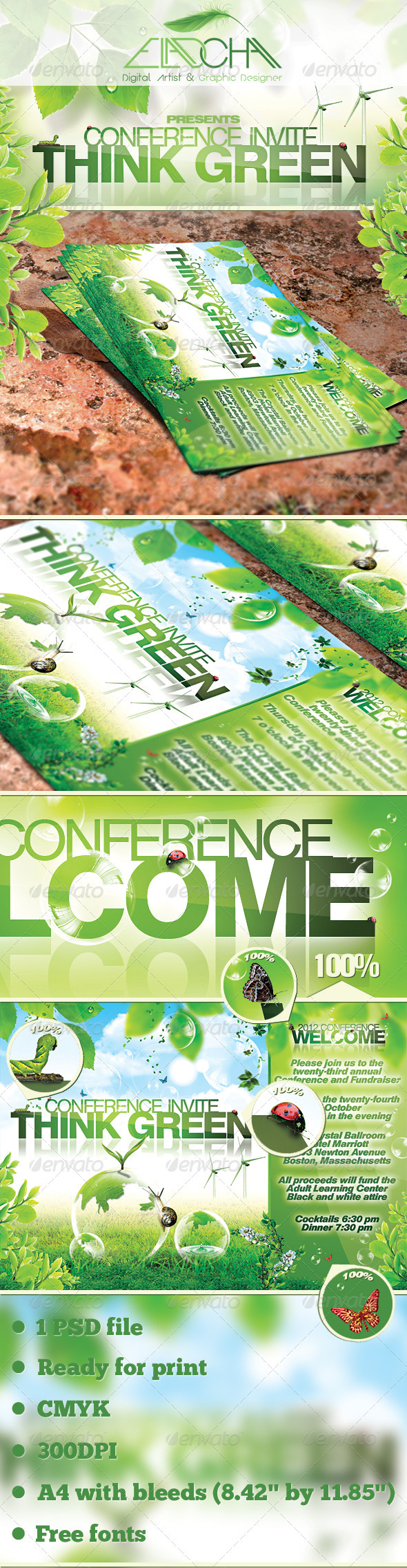 GraphicRiver Green Promotion Flyer Template 1732206