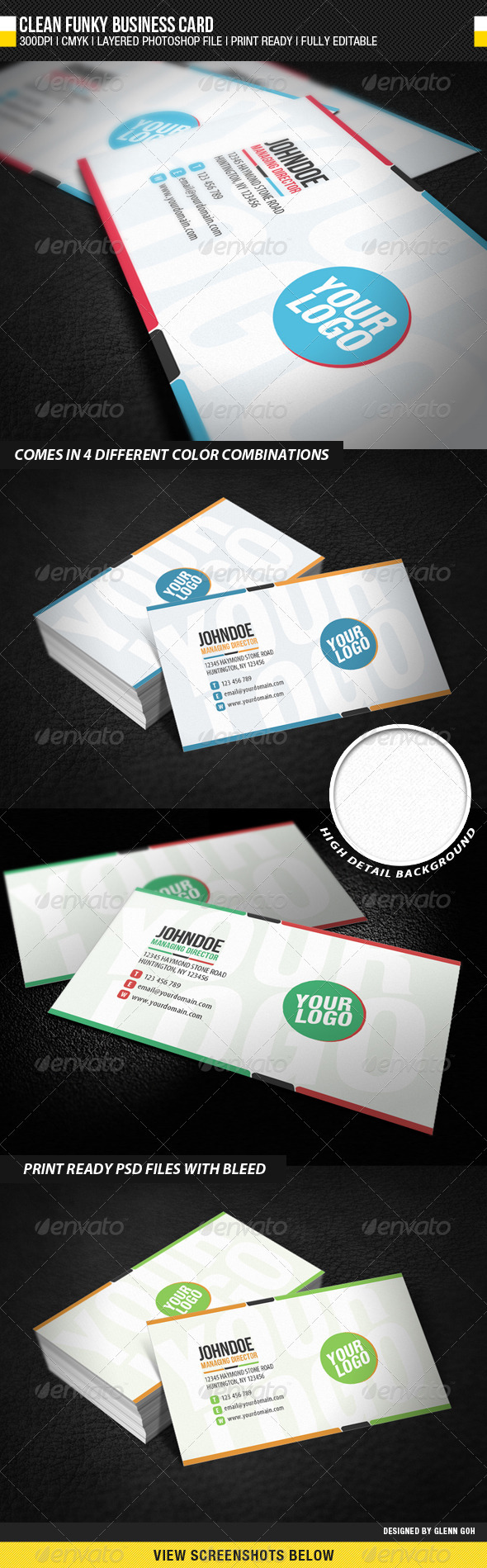 GraphicRiver Clean Funky Business Card 1733395