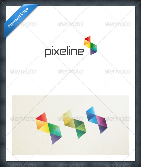 GraphicRiver Abstract Pixel Colorful Logo Template 1737929