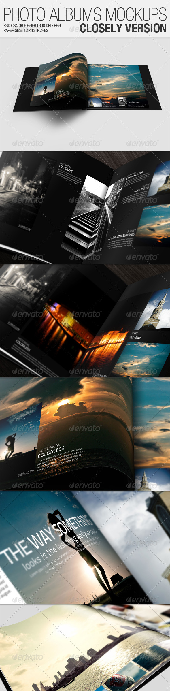 GraphicRiver Photo Albums Mockups Closely Version 981690