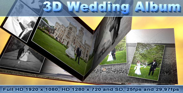 After Effects Project - VideoHive 3D Wedding Photo Album 1694493