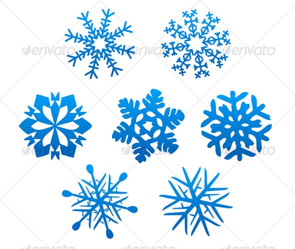 GraphicRiver Set of snowflakes 67865