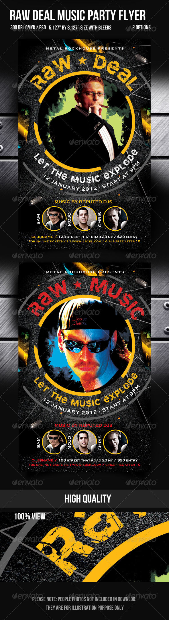 GraphicRiver Raw Deal Music Party Flyer 1113915