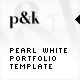 AS2 XML Pearl White Portfolio Template - ActiveDen Item for Sale