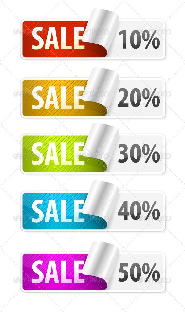 GraphicRiver Sale Stickers 1745156