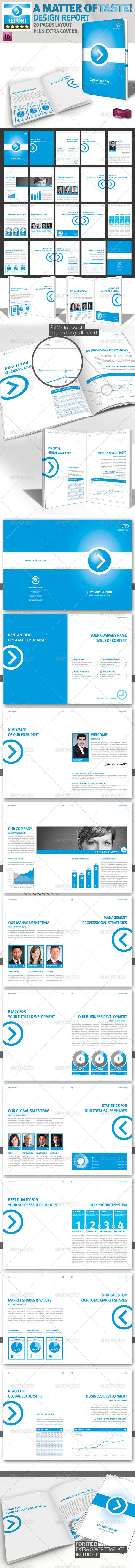 GraphicRiver Professional Brochure Blue Magazine A4 v1 1746526