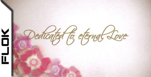 After Effects Project - VideoHive Wedding Flowers 1747262