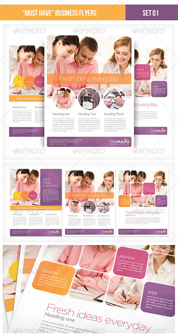 GraphicRiver Must Have Business Flyers Set 01 1749931