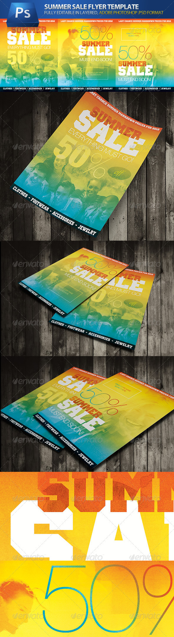 GraphicRiver Summer Sale Commerce Advert Flyers 1751333