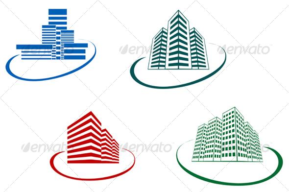 GraphicRiver Symbols of modern buildings 68304