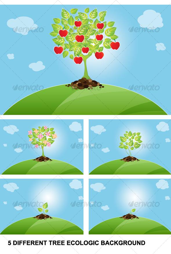 GraphicRiver background tree 68419