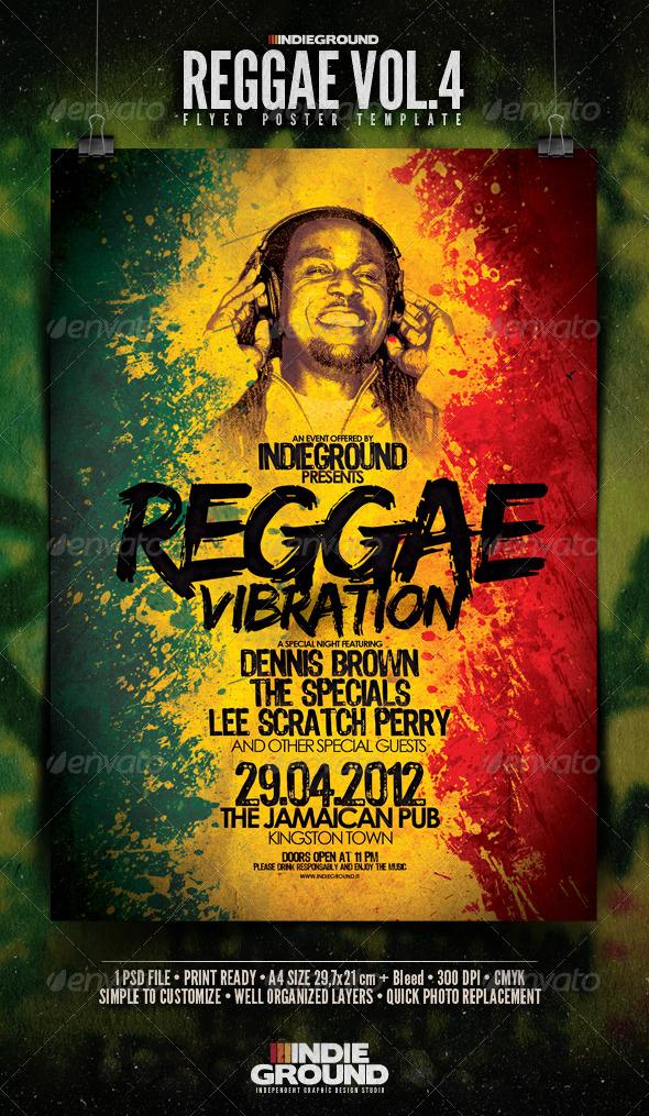 GraphicRiver Reggae Flyer Poster Vol 4 179106