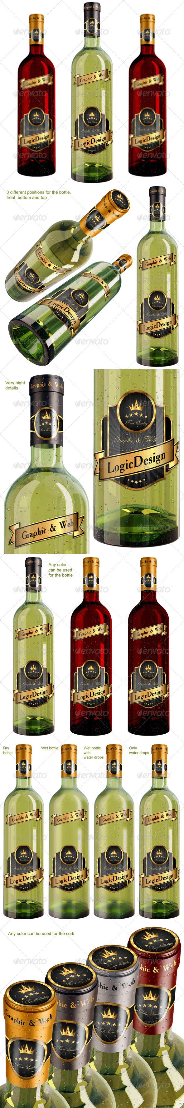 GraphicRiver Bottle Wine Mock Up 1760973