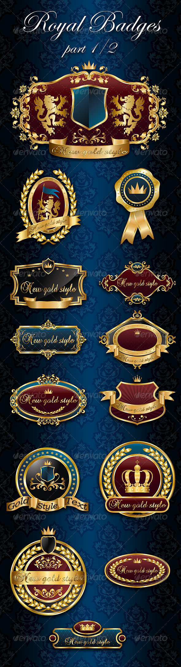 GraphicRiver Royal Badges Frames part 1 2 1762579