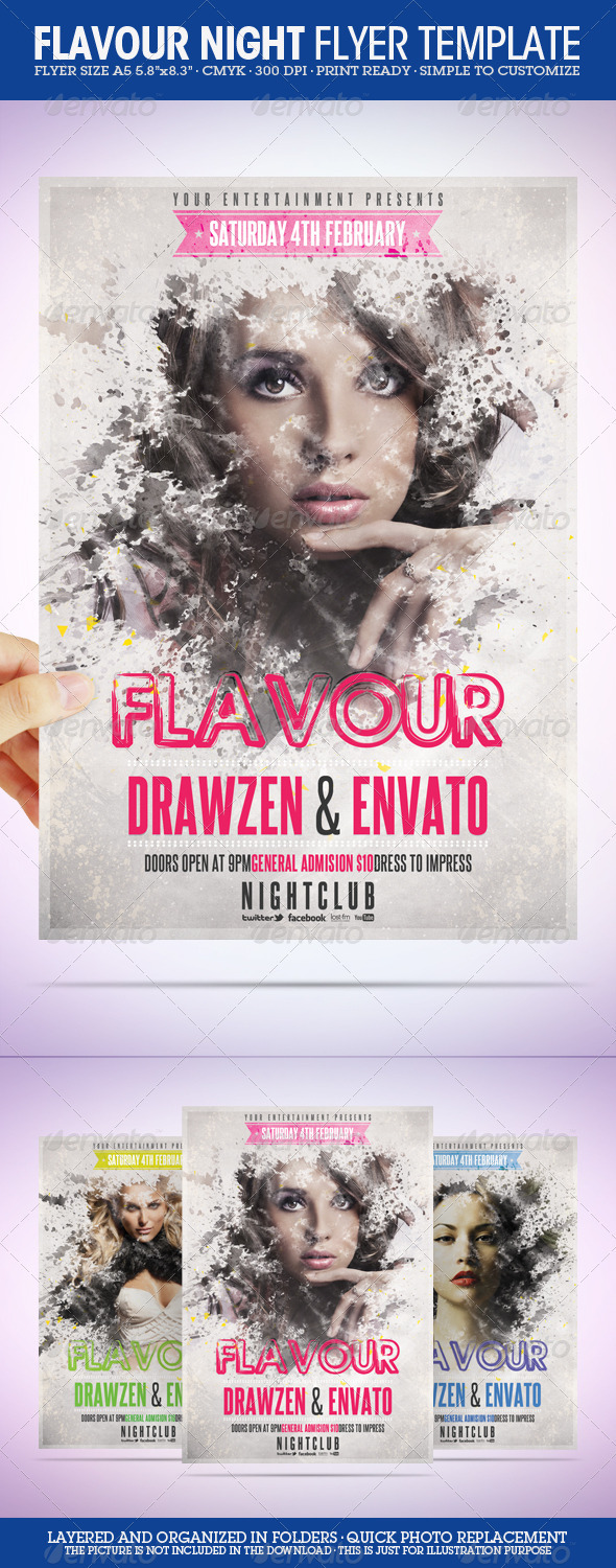 GraphicRiver Flavour Flyer Template 1372783